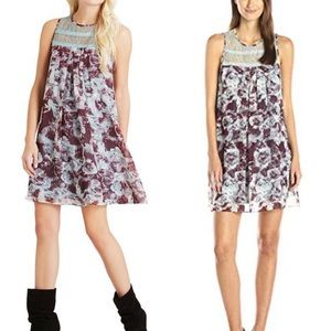 BCBGeneration Babydoll Dress with Lace